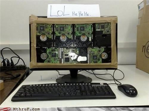 computer hard drive modification prank pun screen Tech - 5300592128