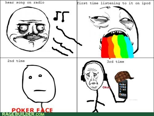 ipod Rage Comics scumbag song