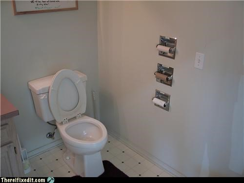 bathroom overkill toilet paper triple decker - 5300742656