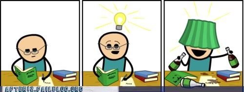 cyanide-happiness,drinking,eurka,homework,lampshade,studying