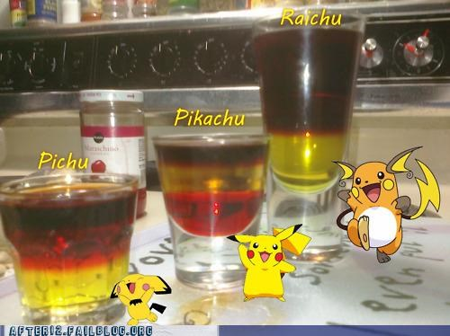 captain morgan,jagermeister,pikachu,Pokémon,recipe,shots