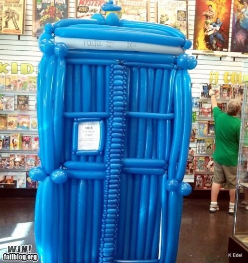balloon,comic book store,doctor who,Hall of Fame,nerdgasm,sci fi,tardis,television