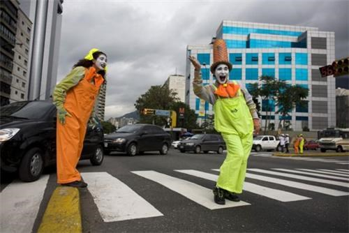 Meanwhile In Caracas,Mimes Not Bombs,whatever works