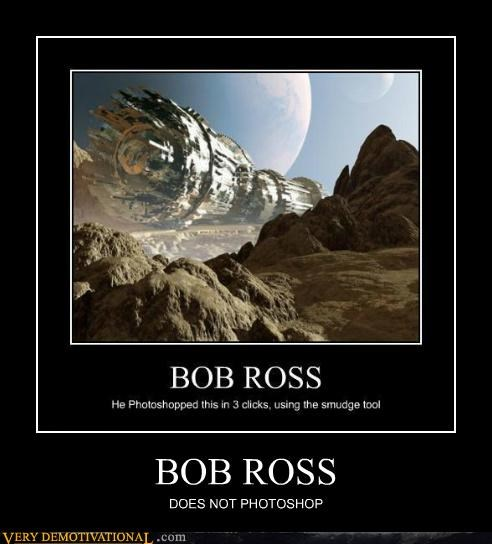 bob ross hilarious photoshop wrong - 5301132288