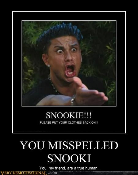 hilarious,jersey shore,snooki,spelling mistake