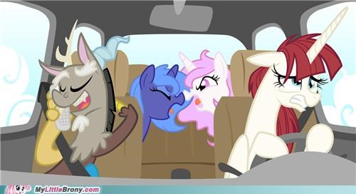 are we there yet art discord fillies kids turn the car around vacation - 5301167360