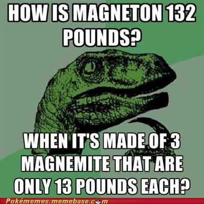 magnemite magneton meme Memes philosoraptor weight - 5301841920
