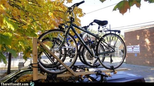 bad puns bike rack cars towing - 5302374912