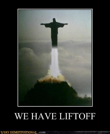 jesus Pure Awesome rocket statue - 5302530816