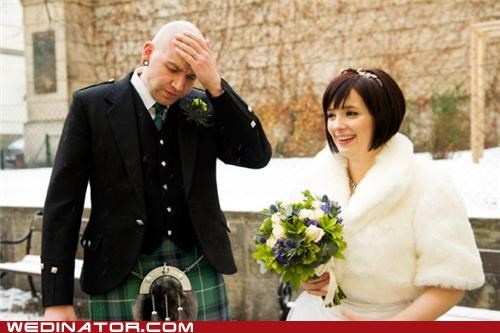 bald,bride,funny wedding photos,groom