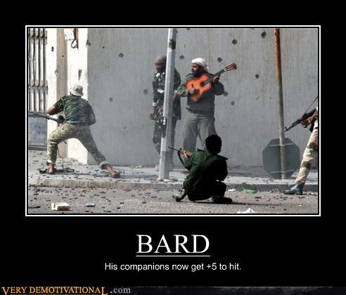 BARD His companions now get +5 to hit.