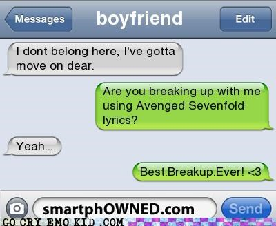 avenged sevenfold,breakup,lyrics,weird kid,wtf