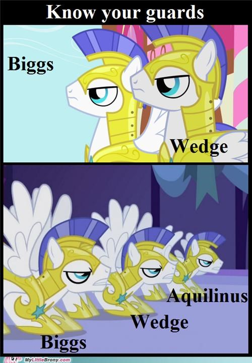 biggs wedge guards know your guards ponies tv show - 5303508736