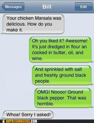 autocorrect,black people,cooking,indian food,marsala