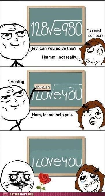 blackboard comic i love you math rage comic We Are Dating - 5303681024