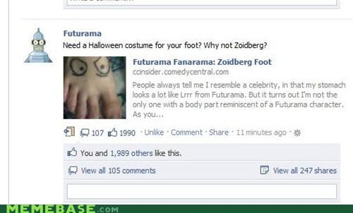bender,costume,facebook,futurama,tattoo,Zoidberg