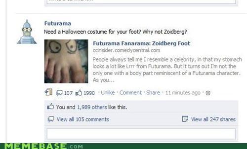 bender costume facebook futurama tattoo Zoidberg - 5303755008