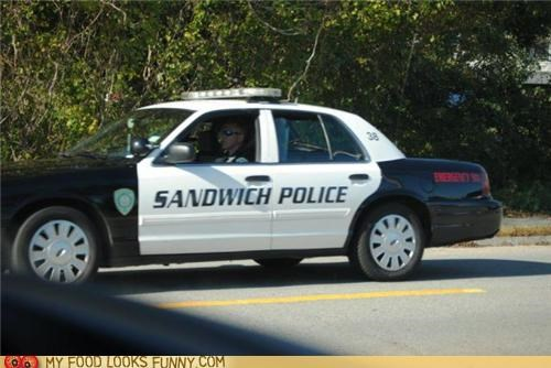 funny food photos,police,sandwiches