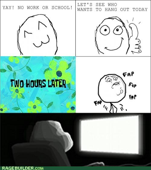 faptimes forever alone Rage Comics school work
