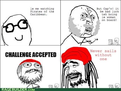 bad luck Pirates of the Caribbean Rage Comics women - 5304236032