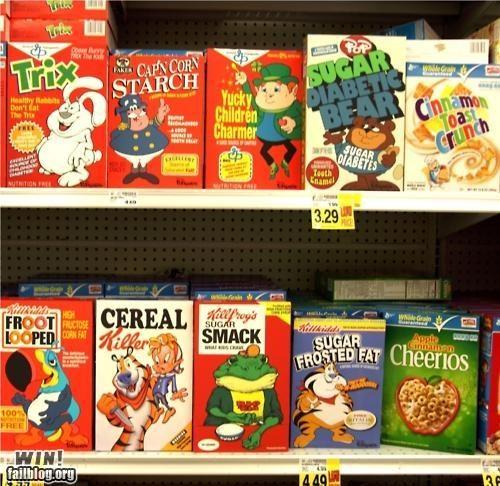 cereal food hacked irl junk food modification Street Art - 5304424704