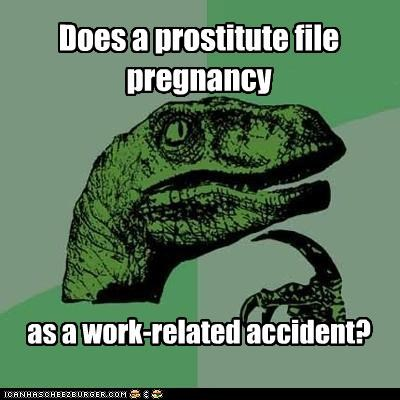 accident philosoraptor pregnancy work years