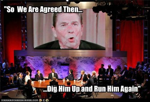 debate,election 2012,GOP,political pictures,Republicans,Ronald Reagan,zombie