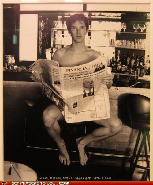 benedict cumberbatch,hng,ivy club,nekkid,newspaper,sherlock bbc,UNF