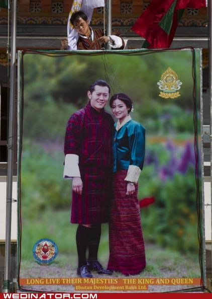 bhutan,funny wedding photos,Hall of Fame,Jetsun Pema,Jigme Khesar Namgyel Wangchuck,royal wedding