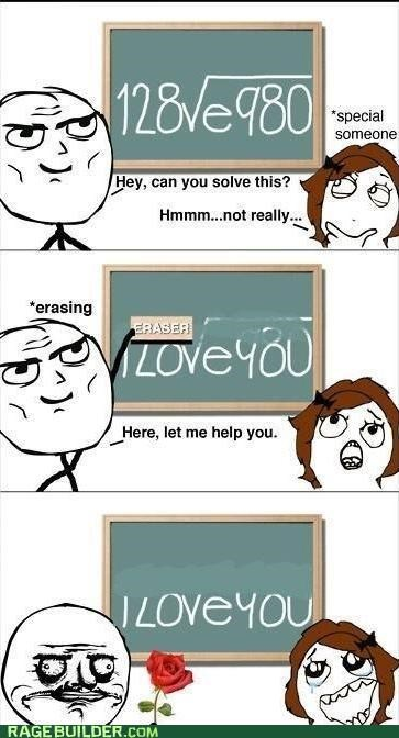 erase,i love you,math,Rage Comics