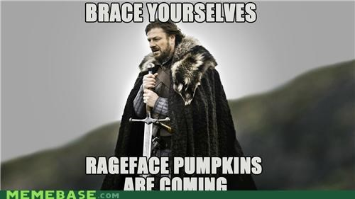 brace halloween pumpkins rage face season Winter Is Coming