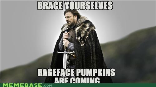 brace halloween pumpkins rage face season Winter Is Coming - 5304828672