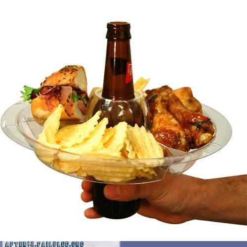 beer beer bottle classy drinking food genius meal tray