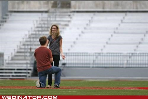 football,funny wedding photos,michigan,ohio,proposal