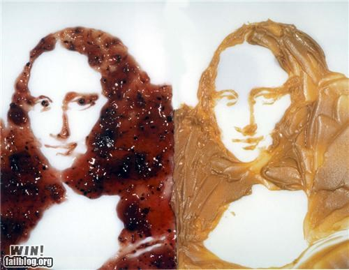 art,jelly,mona lisa,peanut butter,peanut butter and jelly,sandwich