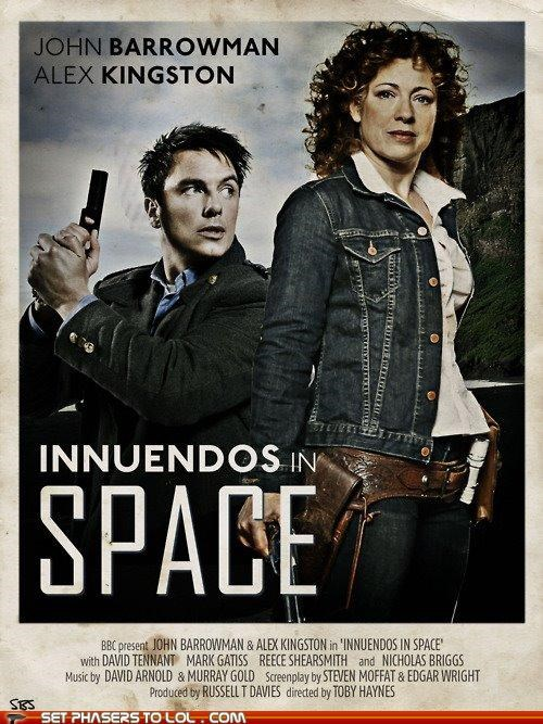 doctor who Fan Art innuendos Jack Harkness River Song space Torchwood Whoniverse - 5305067008