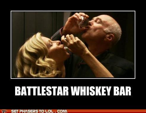 Battlestar Galactica,ellen tigh,frakkin-cylons,Sal Tigh,xo