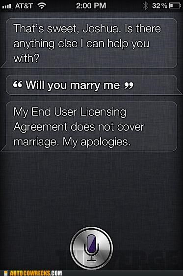 end user licensing agreement marriage robophilia siri - 5305155584