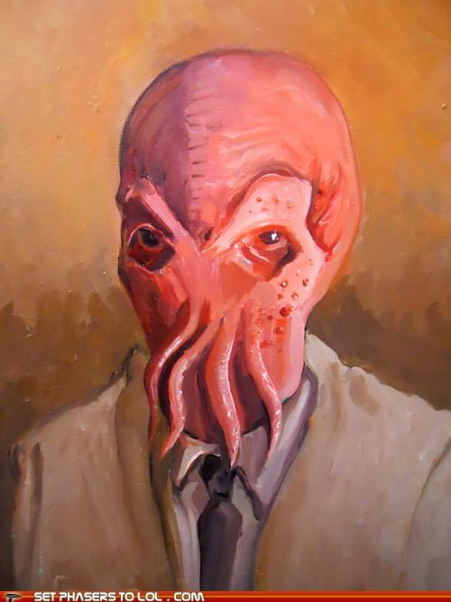 art,futurama,painting,Zoidberg