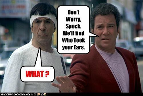 captian kirk Leonard Nimoy Spock Star Trek William Shatner - 5305734144
