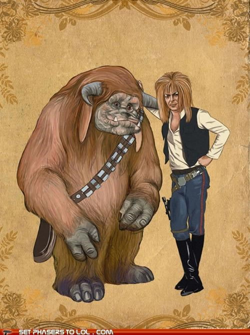 chewbacca,epic,Fan Art,Han Solo,labyrinth,ludo-jareth,star wars