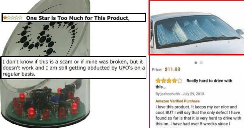 hilarious reviews given to products online