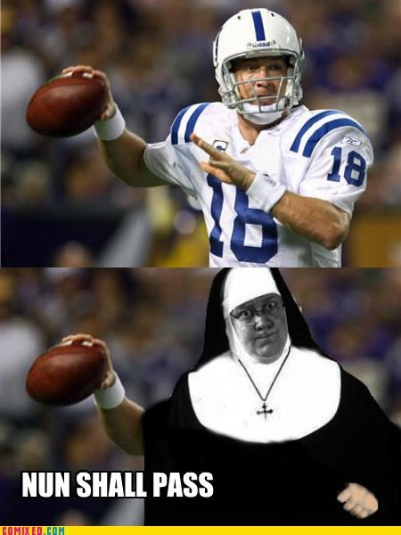 colts football nfl nun peyton manning sister act surgery the internets