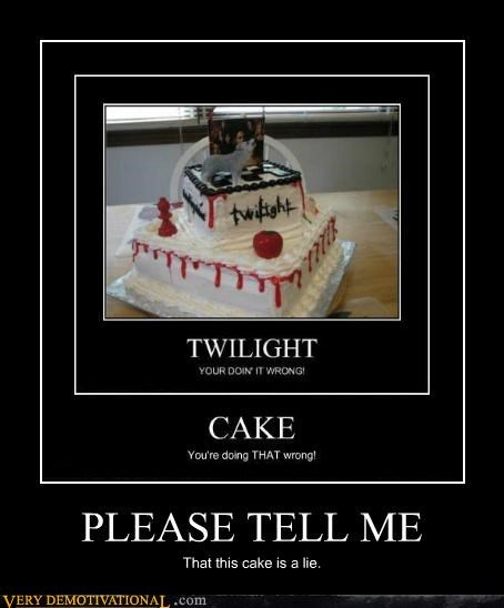 cake,hilarious,lie,twilight