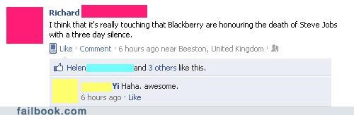 BBM,blackberry,steve jobs,tecnology,too soon