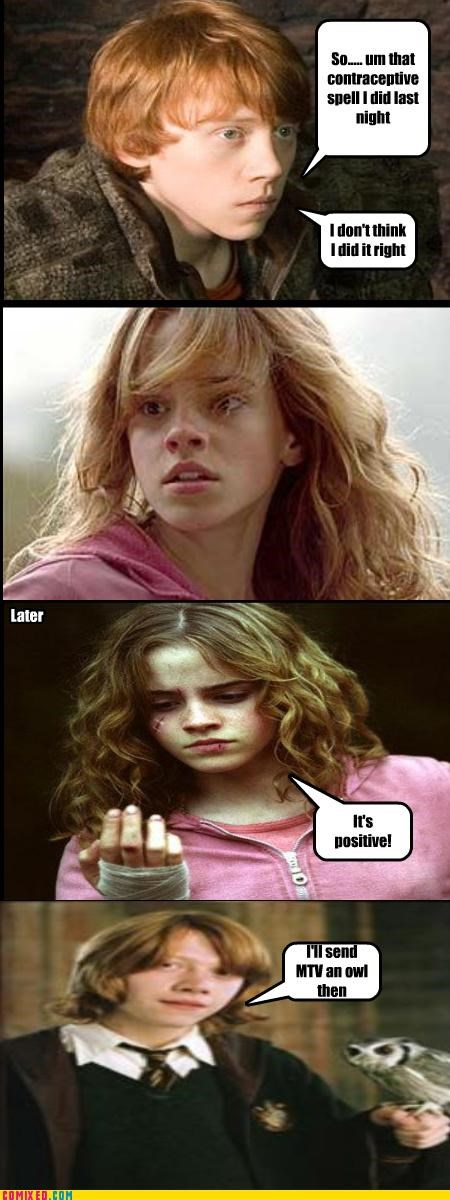 Harry Potter hermione granger mtv pregnant Ron Weasley - 5307061248