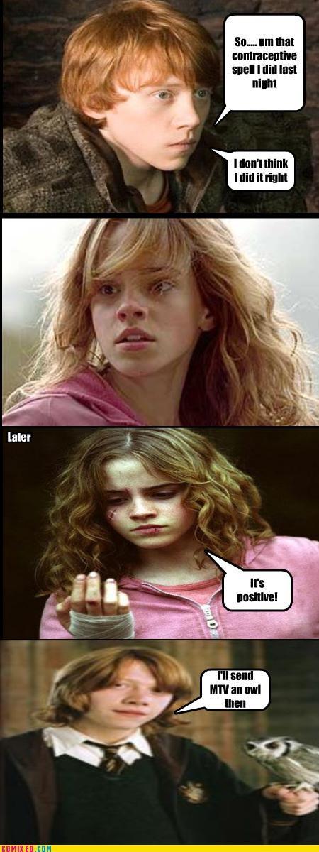 Harry Potter hermione granger mtv pregnant Ron Weasley - 5307061248