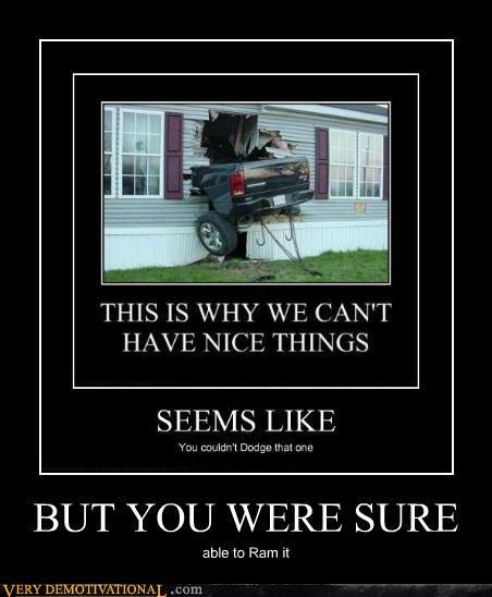 dodge hilarious pun ram truck house - 5307253248
