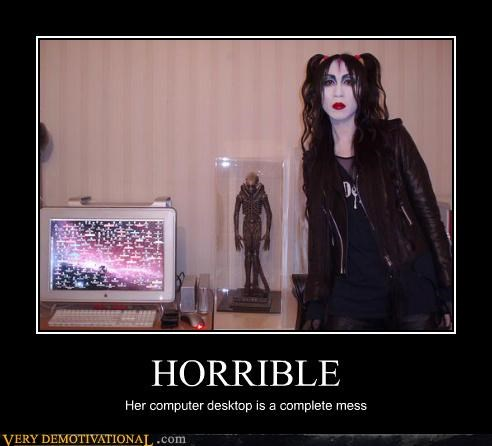 computer desktop goth hilarious horrible wtf - 5307272448