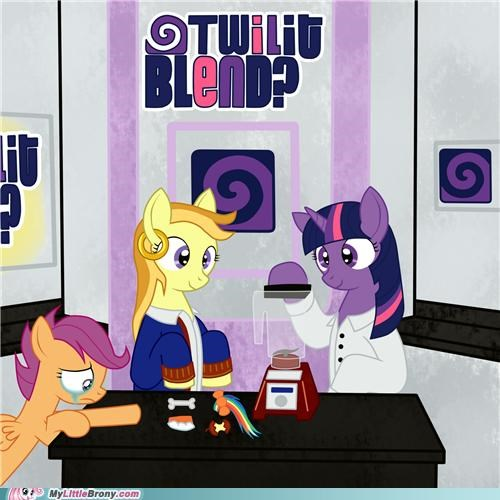 art For Science Scootaloo twilight sparkle will it blend